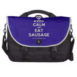 [Chef hat] keep calm and eat sausage  Laptop Bags