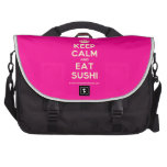 [Crown] keep calm and eat sushi  Laptop Bags