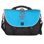 [Broken heart] keep calm and don't cry  Laptop Bags
