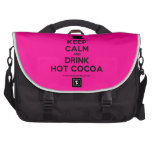 [Cup] keep calm and drink hot cocoa  Laptop Bags