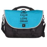 [Crown] keep calm and love omar  Laptop Bags