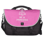 [Crown] keep calm and be a princess  Laptop Bags