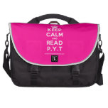 [Crown] keep calm and read p.y.t  Laptop Bags