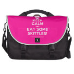 [Love heart] keep calm and eat some skittles!  Laptop Bags