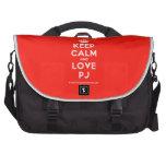 [Crown] keep calm and love pj  Laptop Bags