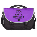 [Crown] keep calm and party bitches! [Love heart]  Laptop Bags