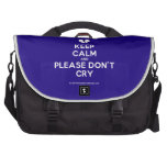 [Broken heart] keep calm and please don't cry  Laptop Bags