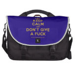 [Dancing crown] keep calm and don't give a fuck  Laptop Bags