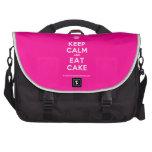[Cupcake] keep calm and eat cake  Laptop Bags
