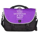 [Crown] dinna fash sassenach je suis prest  Laptop Bags