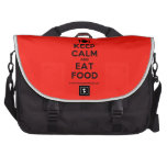 [Cutlery and plate] keep calm and eat food  Laptop Bags