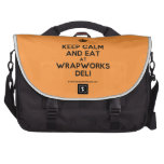 [Crown] keep calm and eat at wrapworks deli  Laptop Bags