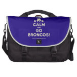 [Crown] keep calm and go broncos!  Laptop Bags
