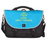 [Crown] keep calm and love west virginia  Laptop Bags