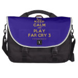[Computer] keep calm and play far cry 3  Laptop Bags