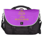 [Smile] keep calm and join moko.mobi  Laptop Bags