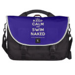 [Knitting crown] keep calm and swim naked  Laptop Bags