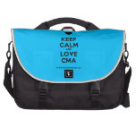 [Love heart] keep calm and love cma  Laptop Bags