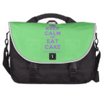 [Crown] keep calm and eat cake  Laptop Bags