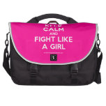 keep calm and fight like a girl  Laptop Bags