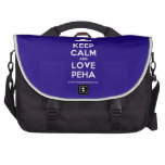 [Moustache] keep calm and love peha  Laptop Bags