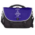 [UK Flag] keep a stiff upper lip  Laptop Bags