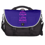 [Dancing crown] keep calm and love music  Laptop Bags