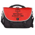 [Crown] keep calm my birthday august 3rd  Laptop Bags