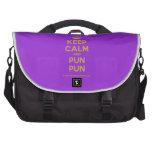 [Crown] keep calm and pun pun  Laptop Bags