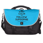 [Crown] keep calm and follow supsophie  Laptop Bags