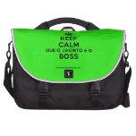 [Crown] keep calm que o jacinto é o boss  Laptop Bags