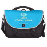 [Crown] keep calm and love coboy junior  Laptop Bags