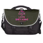[Two hearts] keep calm and love sheyanne  Laptop Bags