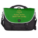 [Crown] keep calm and fuck with skeeter gang  Laptop Bags