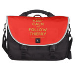 [Crown] keep calm and follow thierry  Laptop Bags