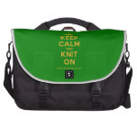 [Knitting crown] keep calm and knit on  Laptop Bags