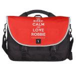 [Crown] keep calm and love robbie  Laptop Bags