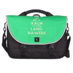 [Crown] bly kalm dis amper lang- naweek  Laptop Bags