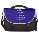 [Crown] keep calm and go fuck yourself  Laptop Bags