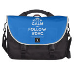[Crown] keep calm and follow #dhc  Laptop Bags