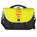 [Smile] keep calm and smile on  Laptop Bags