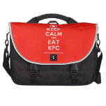 [Cutlery and plate] keep calm and eat kfc  Laptop Bags