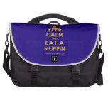 [Chef hat] keep calm and eat a muffin  Laptop Bags