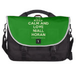 [UK Flag] keep calm and love niall horan  Laptop Bags