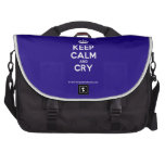 [Crown] keep calm and cry  Laptop Bags
