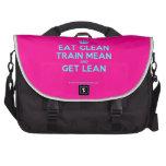 [Crown] eat clean train mean and get lean  Laptop Bags