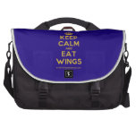 [Crown] keep calm and eat wings  Laptop Bags