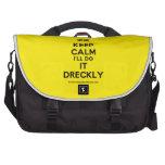 [UK Flag] keep calm i'll do it dreckly  Laptop Bags