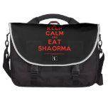 [Campfire] keep calm and eat shaorma  Laptop Bags