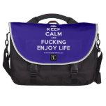 [Crown] keep calm and fucking enjoy life  Laptop Bags